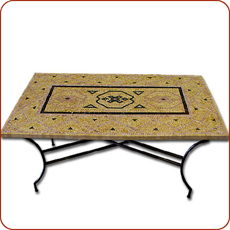 Click To Enlarge - Moroccan Furniture - Mosaic Marble Dining Table