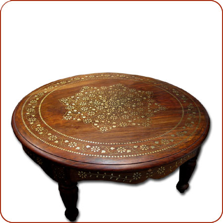 Merveilleux Name: Round Inlaid Table