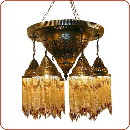 Click To Enlarge  sc 1 st  Berber Trading & Moroccan lighting Syrian chandelier Syrian lighting Moroccan ... azcodes.com