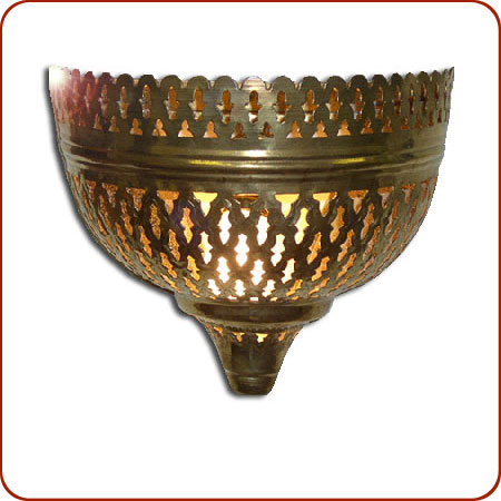 Moroccan Brass Wall Lights : Moroccan Lamp / Lantern - Mellah Brass Wall Sconce