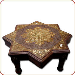 Brass inlaid coffee table,