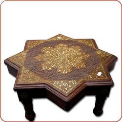 Brass inlaid coffee table,