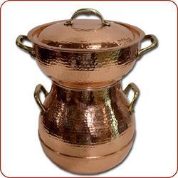 Moroccan copper couscoussier