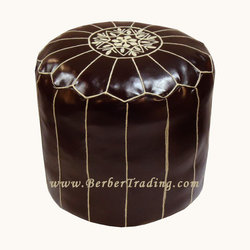 Exclusive Tall Poufs -Dark Brown