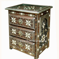 Night Stand Moroccan Table Decor