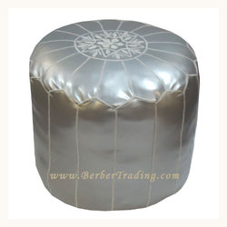 Exclusive Tall Poufs -Silver