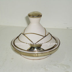 Arabian Ceramic Tagine -White