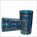 Moresque Moroccan Tea Glasses - Ocean