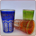 Bahia Moroccan Tea Glasses - Assorted