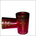 Arabismo Moroccan Tea Glasses - Red