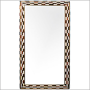 Walnut Bone Mirror