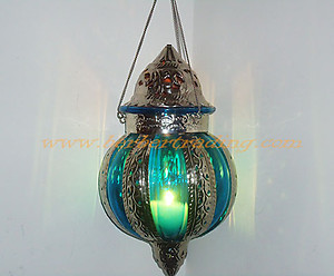 Ambiance turquoise lamp