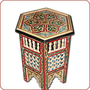Mousharabi Moroccan Side Table