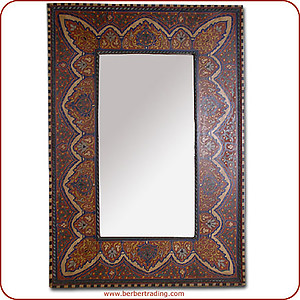 Badia Paintedwood Mirror