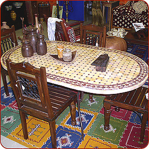 Mosaic Marble Dining Table