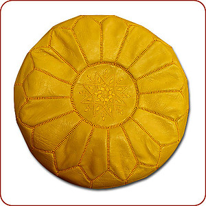 Saffron Yellow Moroccan Poof