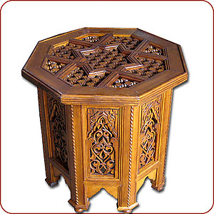 Meknessi Carved Table