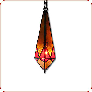 Red Diamond Hanging Lamp
