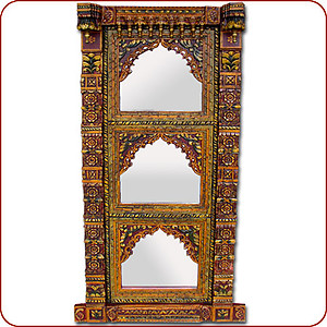 Carved Triple Mirror