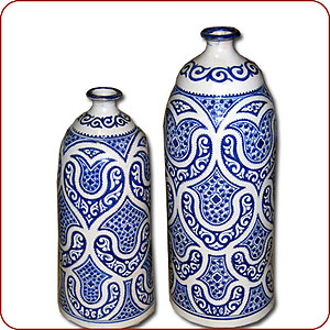 Fez Blue Milk Bottle