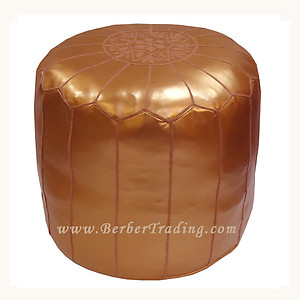 Exclusive Tall Poufs -Bronze