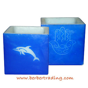 Dolphin Khamsa Candle Luminary (Colors available)