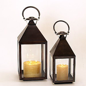Square Mogador Bronze Lanterns