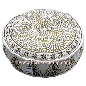 Tarz Moorish Pouf - Cream