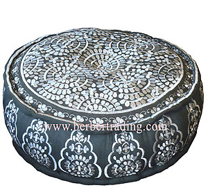 Tarz Moorish Pouf - Grey