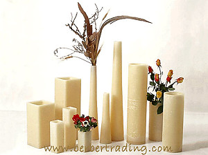 Marrakech Wax Luminary Vases