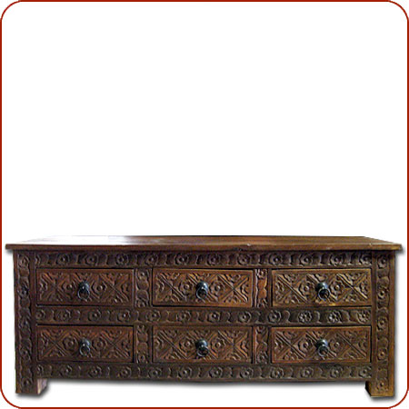 Gentil Carved Side Chest