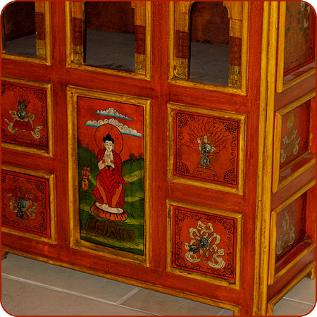 Tibetan Style Arched Cabinet