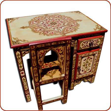 Name: Painted Desk With Chair
