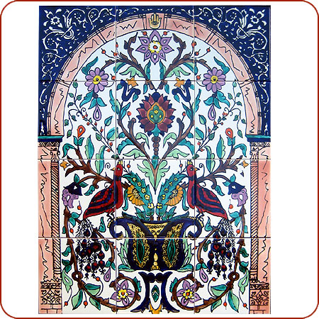 Tile mural Tunisian tile mural Moroccan tile Moroccan mosaic tile