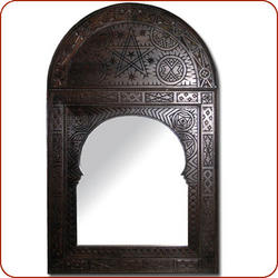 Carved Cedar Arched Mirror