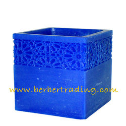 Majorelle Carved Scented Candle Luminary