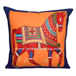 Khayl embroidered pillow