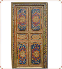 Caligraphic Painted Door