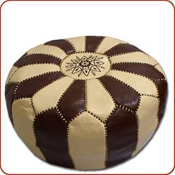 Two Tone Poof Hassock