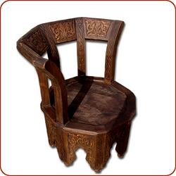Moorish Carved Cedar Chair