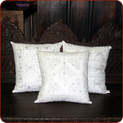 White Silver Pillows