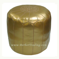 Exclusive Tall Poufs -Gold
