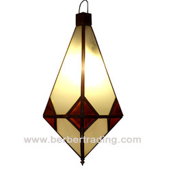 Frosted Amber Moroccan Lamp