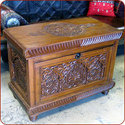 Hand Carved Cedar Chest