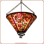 Painted Funnel Hanging Lamp
